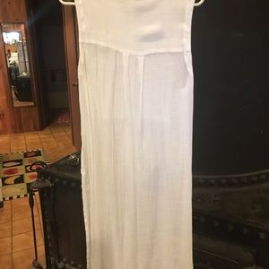 White long duster tunic